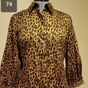 Ralph Lauren leopard print blouse